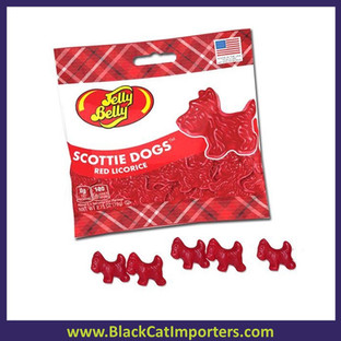 Jelly Belly Red Licorice Scottie Dogs 12 x 77g Bag