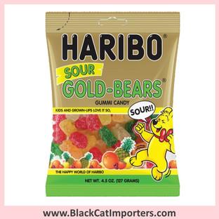 Haribo Gummies / Sour Gold Bears / Peg Bag