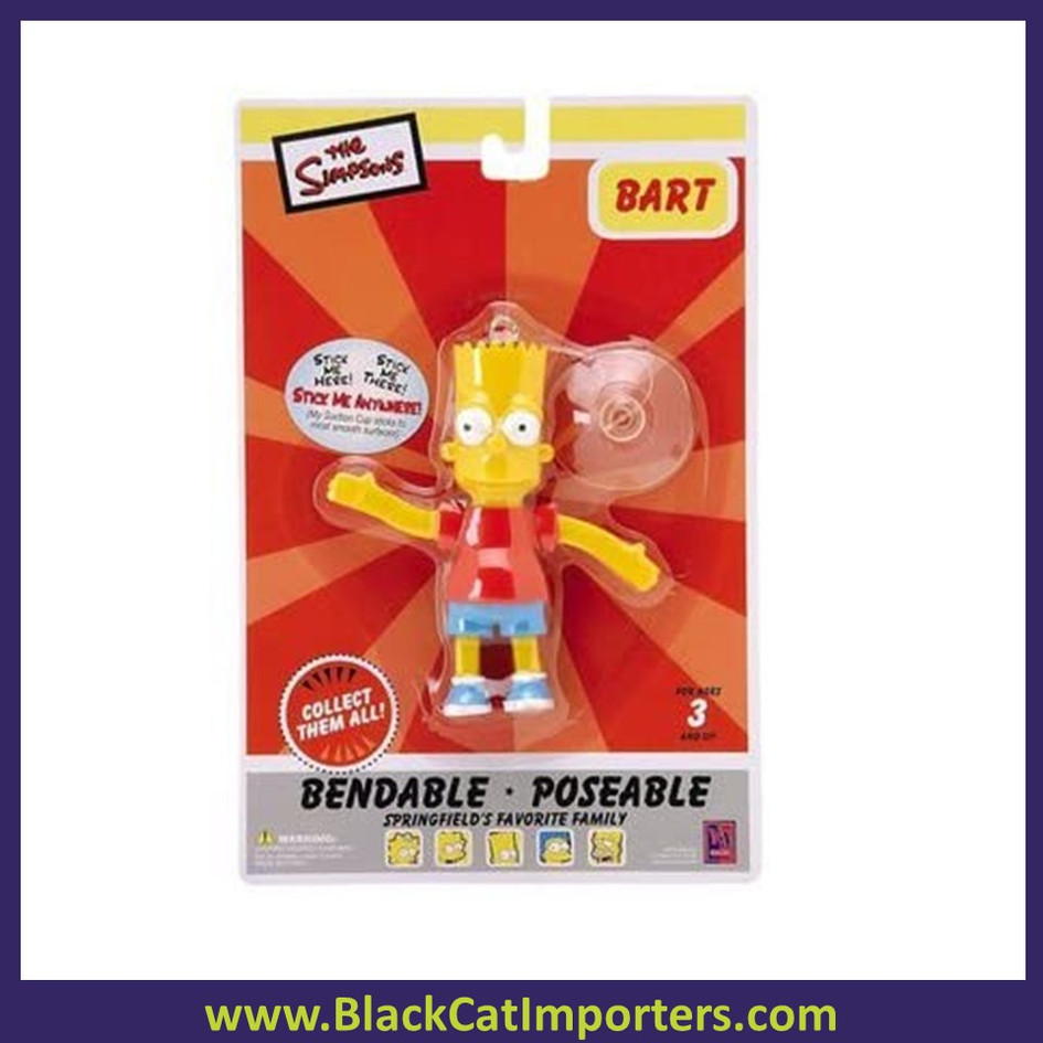 The Simpsons Bart Bendable Suction Cup Dangler 4 pcs/Pack