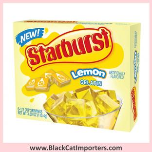 Starburst Gelatin Jello Lemon 12 Packets