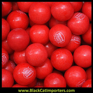 Bulk Dubble Bubble Very Cherry Candy Filled Gumballs 5lbs Bag
