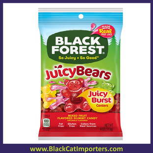 Black Forest Peg Juicy Bears Mixed Fruit Gummies 4oz 12ct