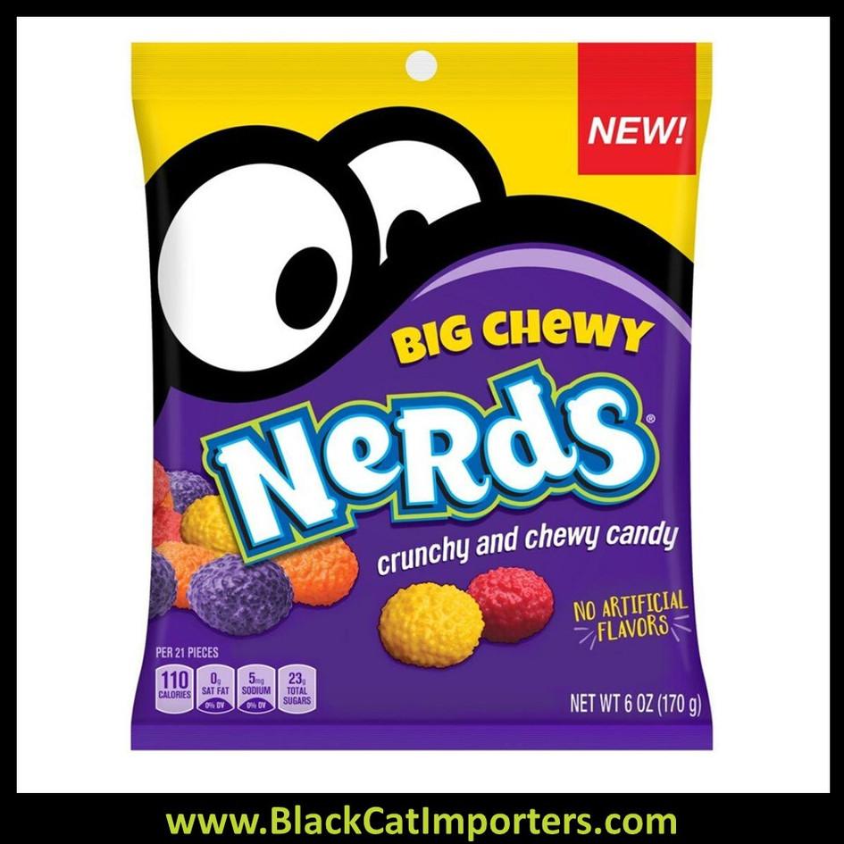 Wonka Nerds Big Chewy Peg Bag 6oz 1/12ct