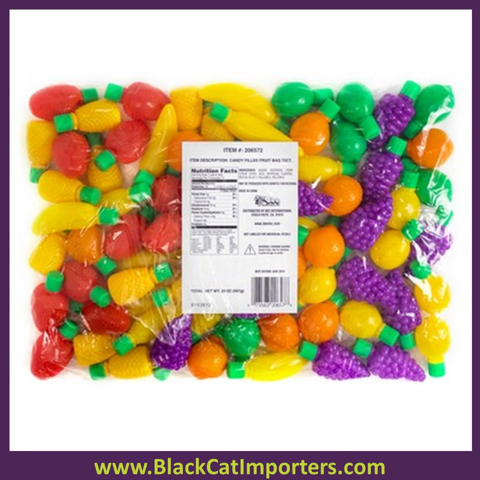 Novelty Candy Filled Fruits Bag 72 ct