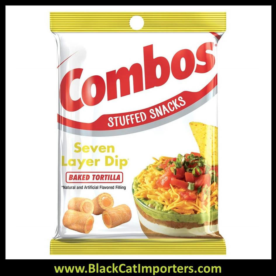 COMBOS 7 Layer Dip Tortilla Baked Snacks, 6.3 Ounce
