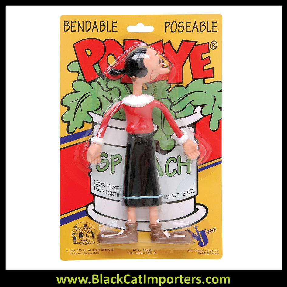 Popeye Bendables - Olive 4 Pcs/Pack