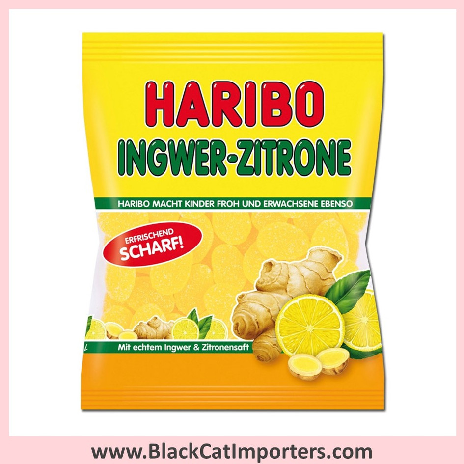 Haribo Gummies / Ginger Lemon / Peg Bag