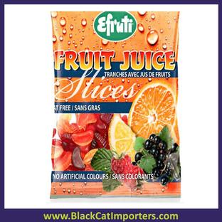 Efruti Gummi Fruit Juice Slices 3/1kg Bags