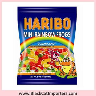 Haribo Gummies / Mini Rainbow Frogs / Peg Bag