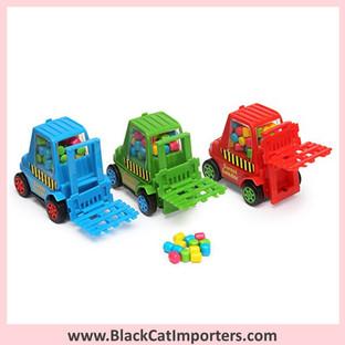 Candy Filled Sweet Loader Forklift Trucks 12-Piece Box