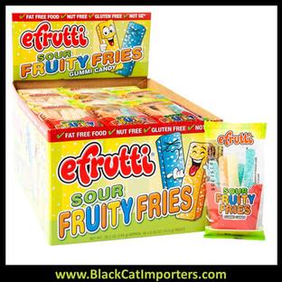 EFrutti Gummi Sour Fruity Fries 48ct