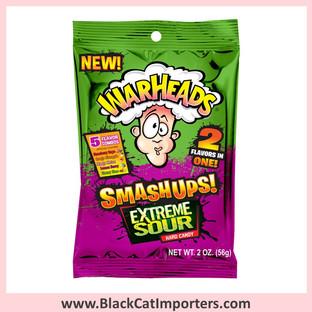 WarHeads Smashups Hard Candies /Extreme Sour / Peg Bag