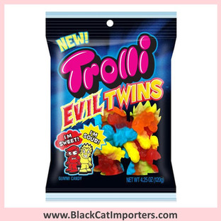 Trolli Peg Bag Trolli Evil Twins Sweet and Sour Gummy Candy 4.25oz 1/12ct