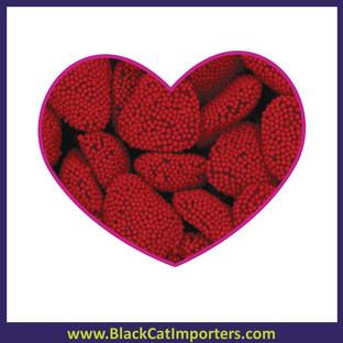 Jelly Belly Bulk Red Raspberry Hearts 4.54 kg