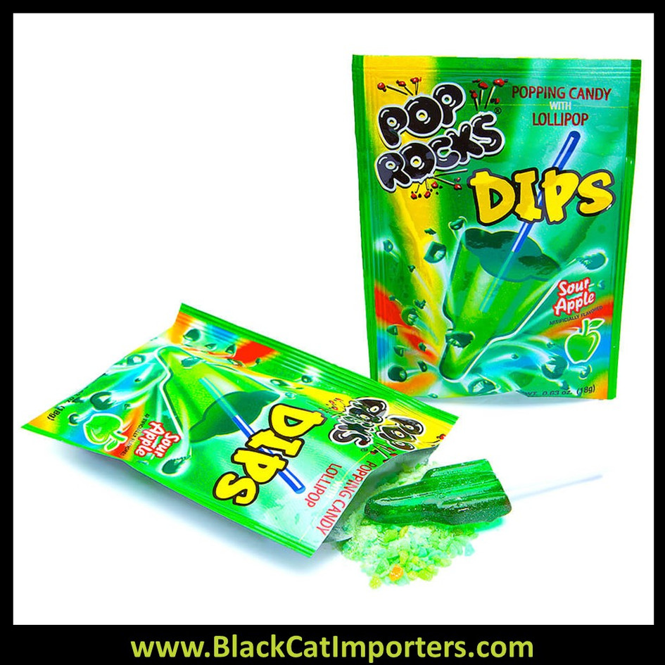 Pop Rocks Dips Sour Apple 18ct