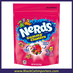 Wonka Nerds Gummy Clusters Candy Stand Up Bag 8oz 6ct