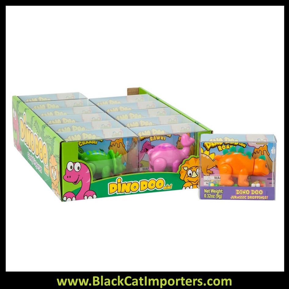 Mini Dino Doo Pooping Dinosaur Jelly Bean Dispensers: 12-Piece Display