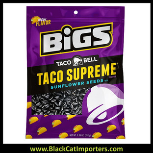 Bigs Sunflower Seeds Taco Bell Supreme Peg Bags 5.35oz 12ct