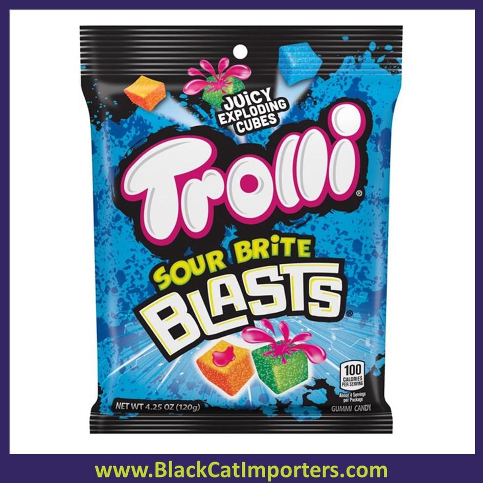 Trolli Peg Juicy Exploding Cubes Sour Brite Blasts 12ct 4.25oz