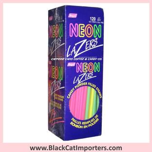 Neon Lazers Powder Candy Straws   Original