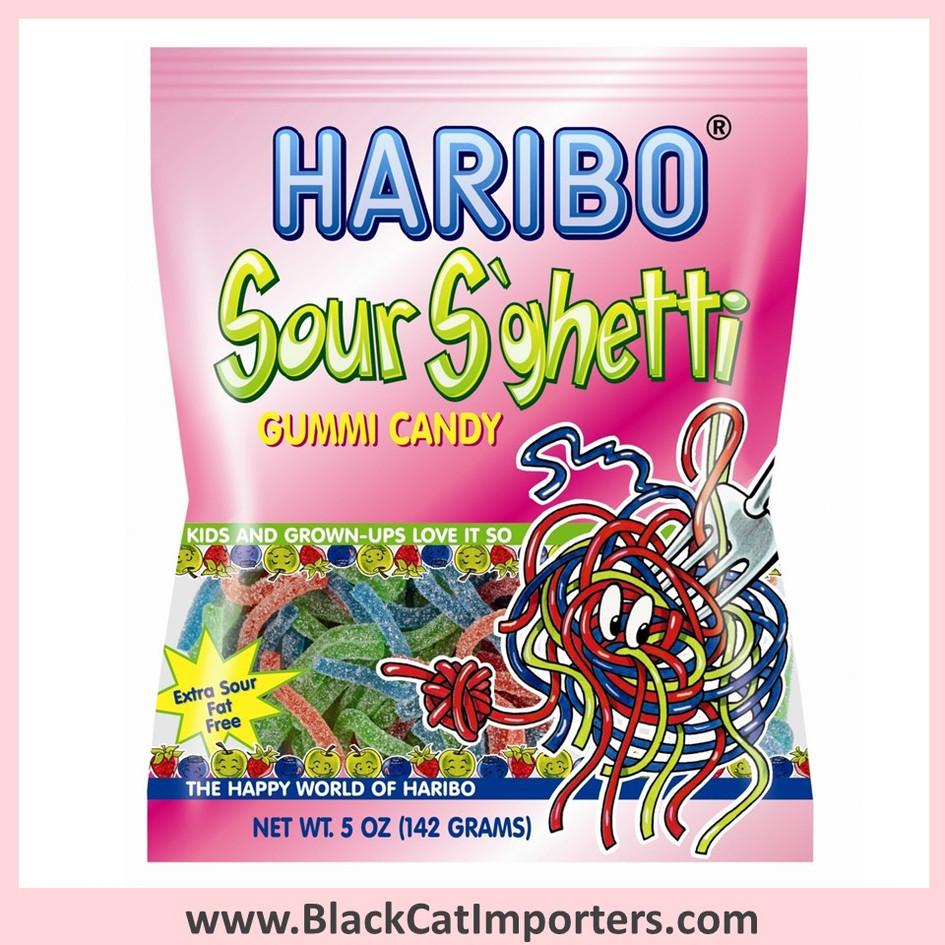 Haribo Gummies / Sour S'ghetti (Spaghetti) / Peg Bag