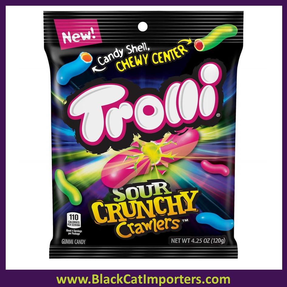Trolli Sour Crunchy Crawlers Peg Bag 12ct