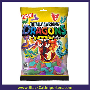 Totally Awesome Dragon Gummies 4oz 12 ctct