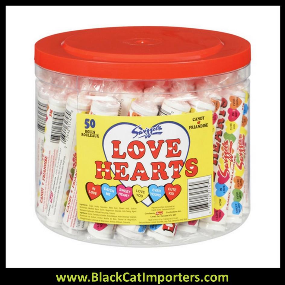 Swizzels Love Hearts Rolls 50ct Tub