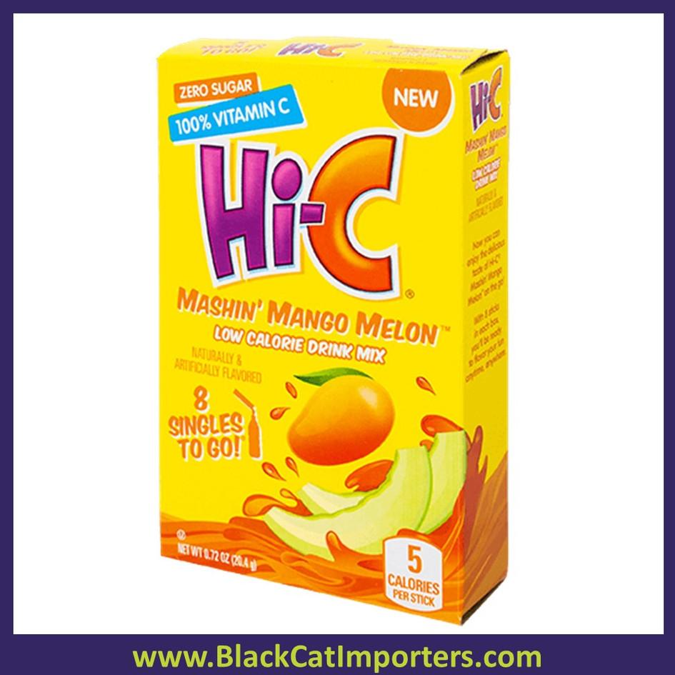 Hi-C Mango Melon Singles to Go Drink Mix, Sugar Free 12x6 Packets