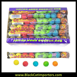 Cry Baby Nitro Sours Gumballs 9 Ball Tube 24ct