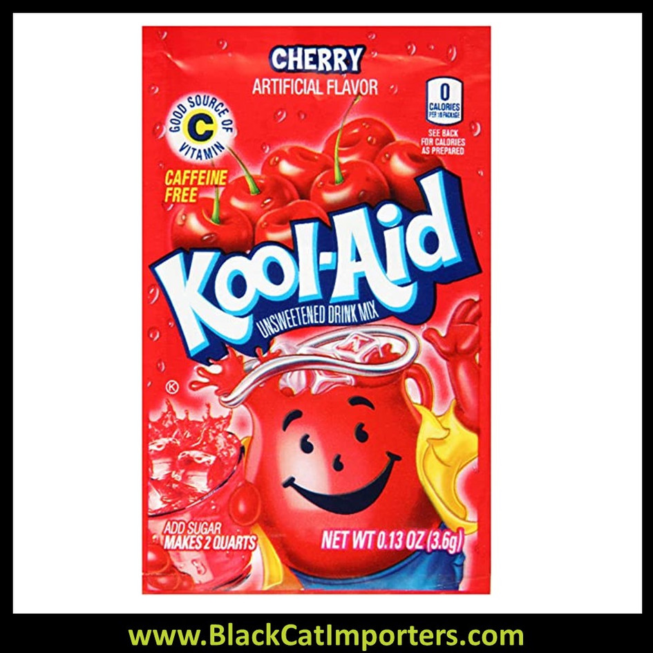 Kool-Aid Unsweetened 2QT Cherry Flavored Drink Mix, 48Unit