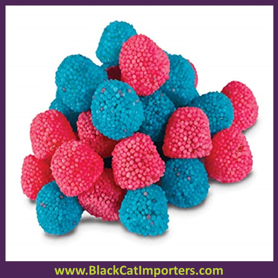 Gustaf's Pink and Blue Sweet Bubblegum flavored Berry Caramel  6.6lb Bag