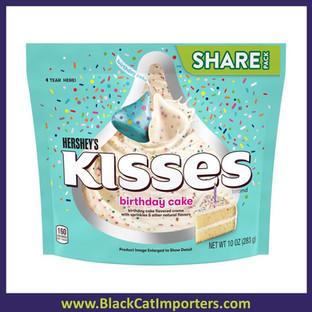 Hershey's Kisses Birthday Cake White w/sprinkle SUB 10z 8ct