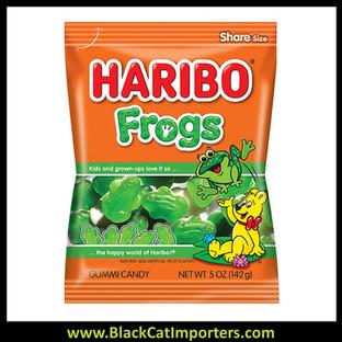 Haribo Peg Bag Frogs 5oz  12ct