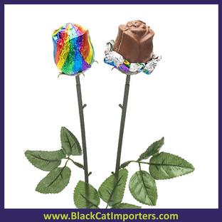 Alberts Belgium Milk Choc Color Splash Rainbow Roses 20ct