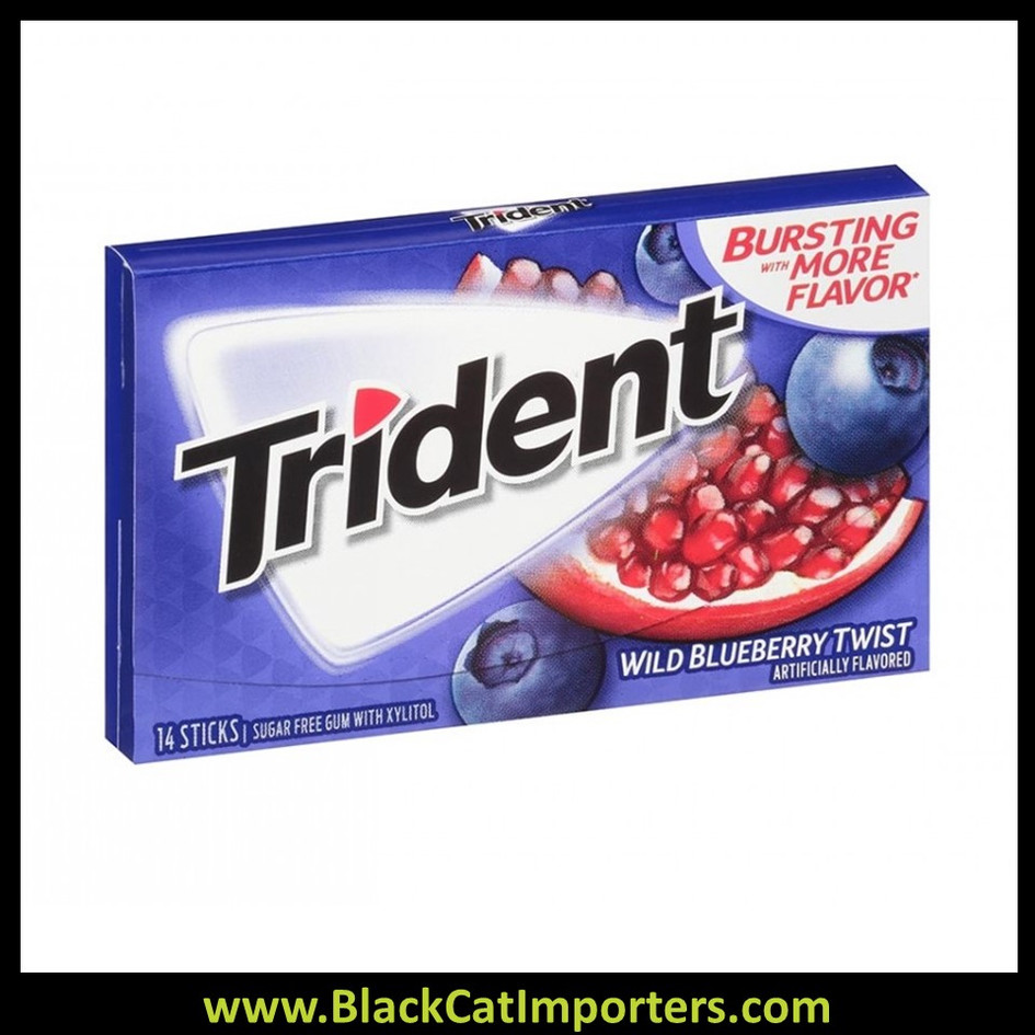 Trident Super Pack Sugar Free Gum Wild Blueberry Twist 12-Pack