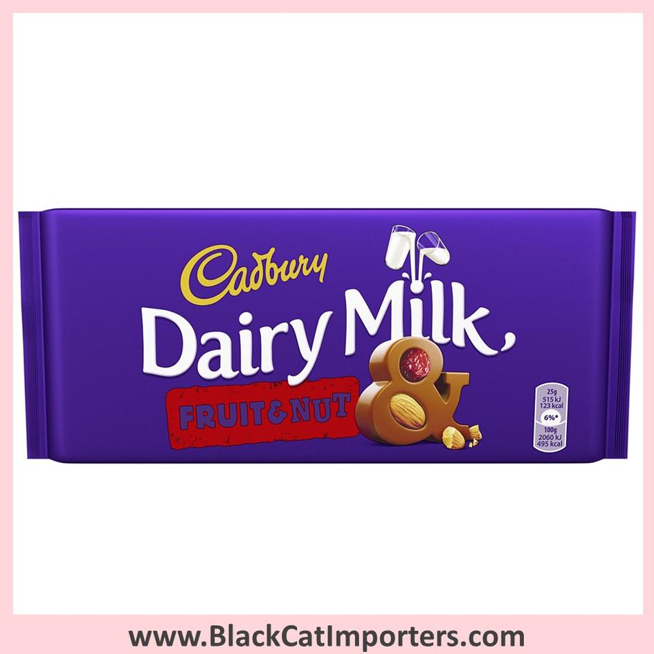 Cadbury Chocolate Bars   Dairy Milk Fruit & Nut   Large 15x200gg