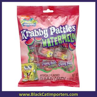 SpongeBob Gummy Krabby Patties Watermelon Peg Bag 12ct