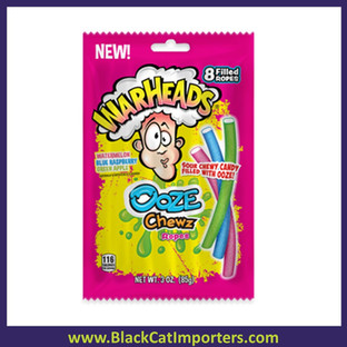 Warheads Ooze Chewz Ropes Peg Bag 3.0 oz 12ct