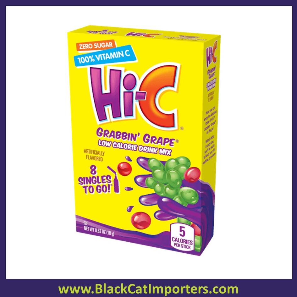 Hi-C Grabbin' Grape Singles to Go Drink Mix, Sugar Free 12x6 Packets