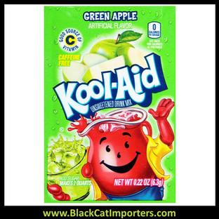 Kool-Aid Unsweetened 2QT Green Apple Flavored Drink Mix, 48Unit