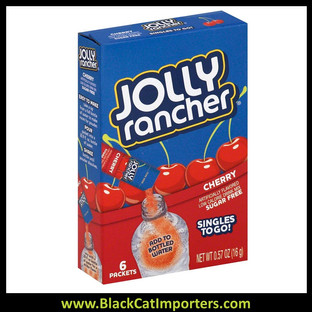 Jolly Rancher Singles To Go Drink Mix, Cherry, 12x6 Packets