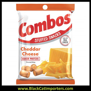 COMBOS Cheddar Cheese Pretzel Baked Snacks 6.3-Ounce Bag