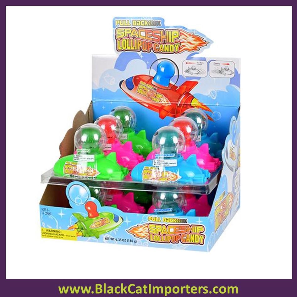 Koko's Pull-Back Spaceship Lollipop Candy 12ct