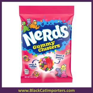 Wonka Nerds Gummy Clusters Peg Bag 5oz /12ct
