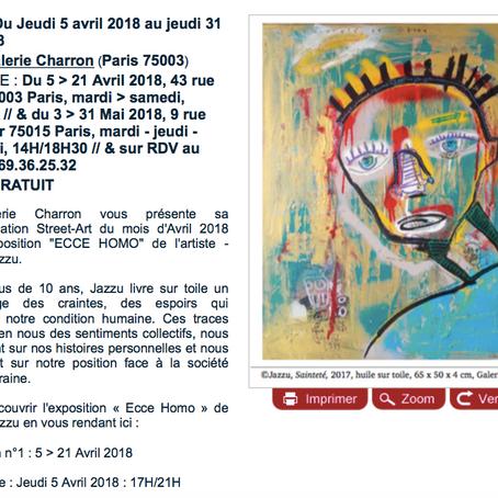 """Nouvelle exposition à la Galerie Charron : """"ECCE HOMO"""" du peintre Jazzu // L'Étudiant"""
