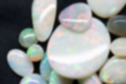 a collection of our white opals