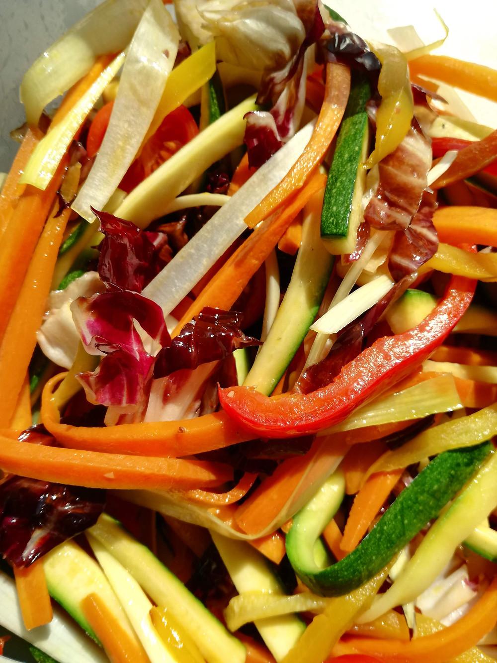 Straccetti di manzo e verdure all'aceto balsamico