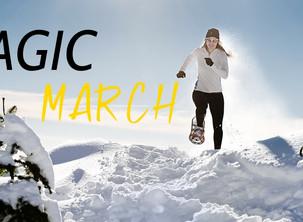 """""""Magic March"""" - Ciasopolate con Guida nelle Dolomiti di Selva di Cadore a Marzo."""