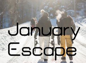 """""""January Escape"""". Gennaio: il mese piu' tranquillo dell'anno. Perfetto per escursioni con le Ciaspe."""